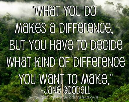 Dr. Jane Goodall Quote - Deforestation Education